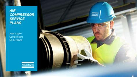 air compressor service plans  atlas copco