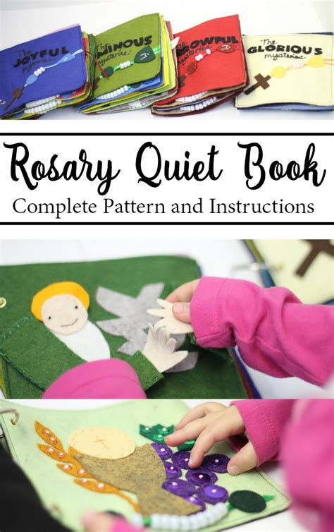 rosary quiet book pattern rosary quiet book pattern do small things with great love