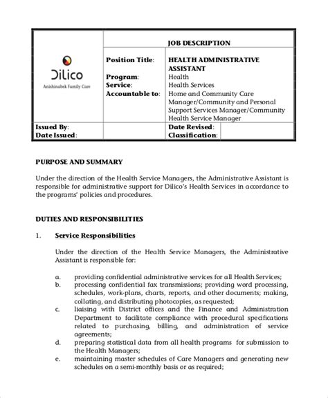icg administrative assistant description 28 images dsp description for resume best business