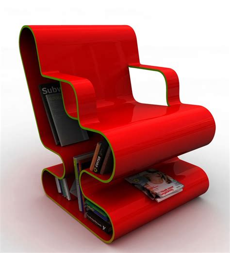 Chair Design Modern a curved lounge chair with built in book storage digsdigs