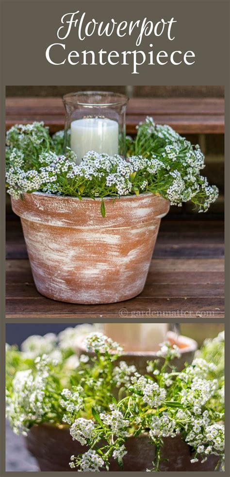 Best 25  Flower pot centerpiece ideas on Pinterest