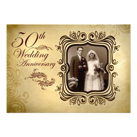fancy 50th wedding anniversary invitation superdazzle