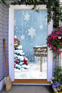 Front Door Cover Front Door Cover Entry Doors Banner 3d New Year Decor Outside On34 Ebay