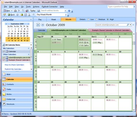 Exchange La Calendar View Your Apps Calendar In Outlook 2007 2010