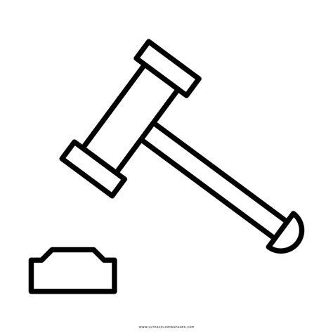 imagenes de justicia para iluminar dibujo de mazo para colorear ultra coloring pages
