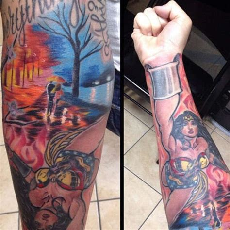 wonder woman wrist tattoo dc sleeve by adriano brand 227 o