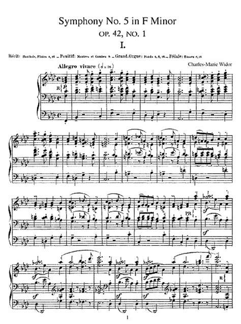 Symphony No. 5 Complete - Órgano - Partituras - Cantorion