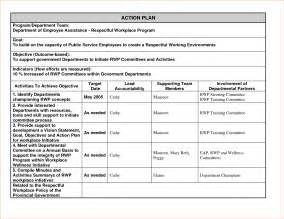 4 sample action plan templatereport template document