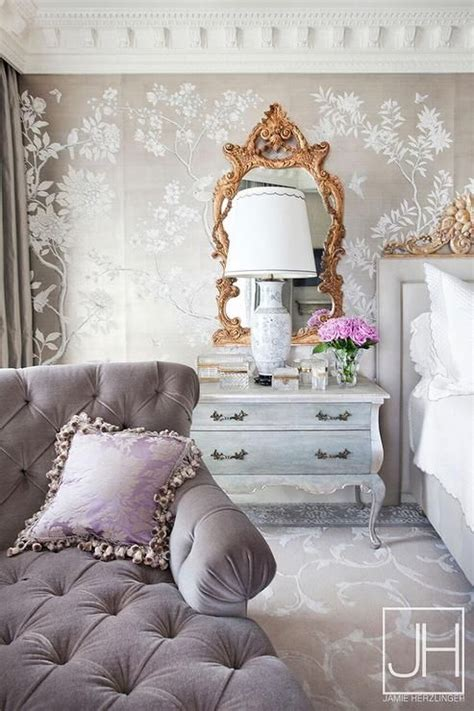 gray  gold french bedroom bedroom design ideas