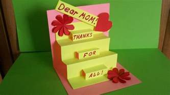 how to make a greeting pop up card for mom birthday