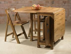 Drop Leaf Kitchen Tables And Chairs Adorable Drop Leaf Table With Chair Storage Homesfeed