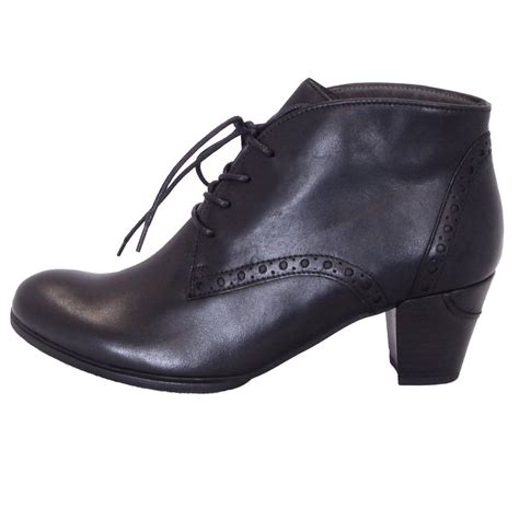 womans shoe boots gabor shoes jayse womens lace up ankle boot in black