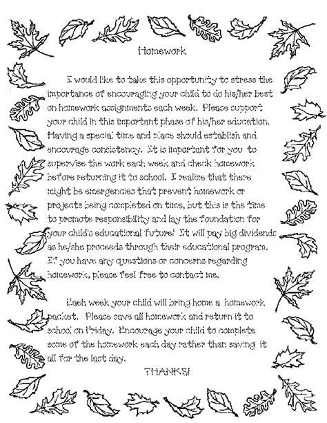 Teacher Templates Letters Parents Parent Letter For Homework Favorite Places Spaces Letter Poem Template