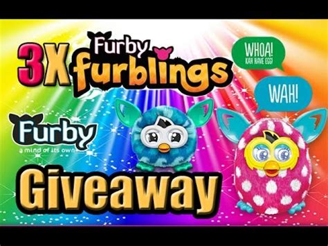Free Toy Giveaways - free toy giveaway 3x furby furblings toys youtube