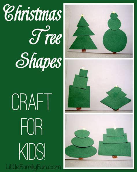 little family fun shape house educational craft little family fun christmas tree shapes
