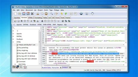bluefish editor design view top 10 code editors you should try geeks zine