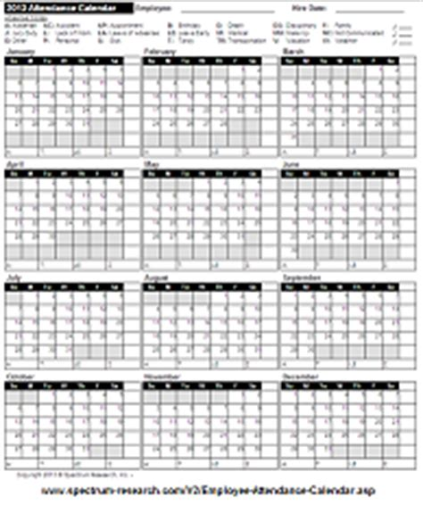 2015 attendance calendar form 25 pk human resource forms monthly calendars with room for absense codes
