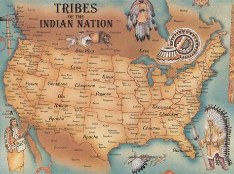 tribes of indian nation map us mappery