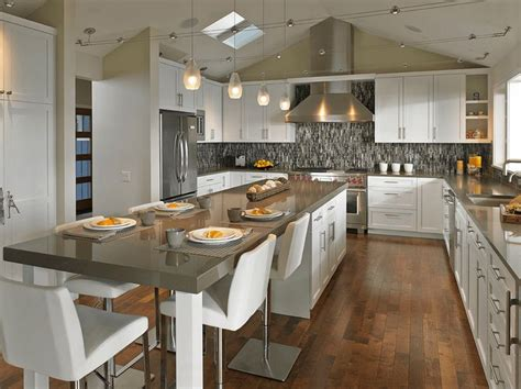 kitchen islands with seating for 3 best 25 long kitchen ideas on pinterest modern kitchens