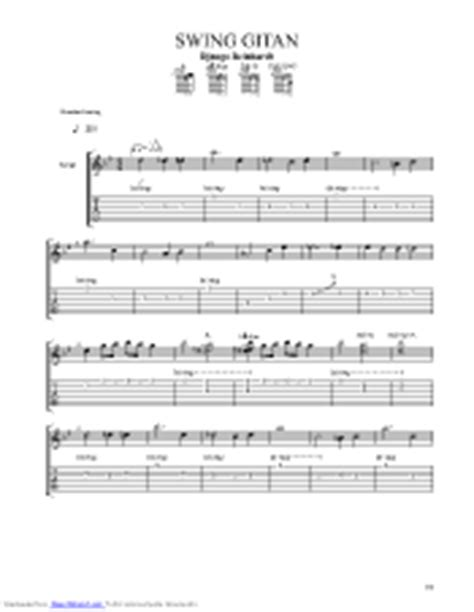 swing gitan tab swing gitan guitar pro tab by django reinhardt