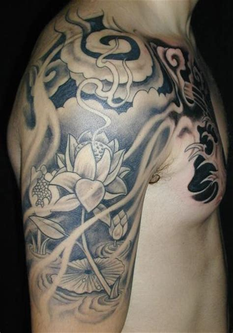 half sleeve flower tattoo designs for men tattoos ideas and pictures