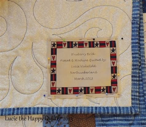 quilt labels lucie the happy quilter s blog