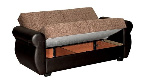 milano ottoman bed milano sofa bed in brown microfiber by rain w optional items