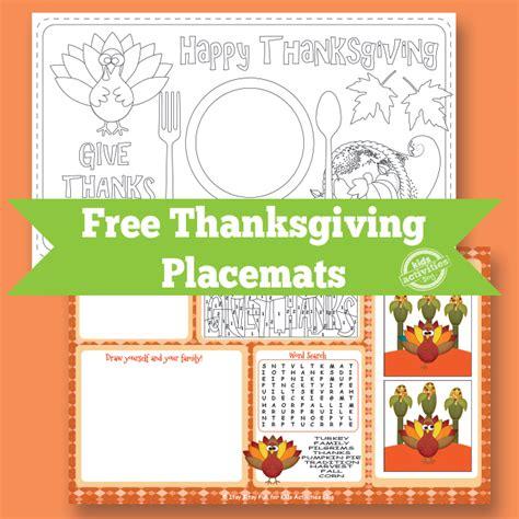 printable turkey placemat thanksgiving placemat free kids printable