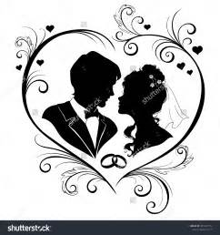 Card From Bride To Groom Bride Groom Silhouette Wedding Clipart 66