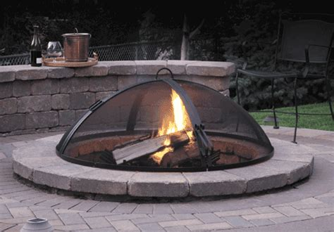 Firepit Screen Aspen Industries Gas Logs Pits
