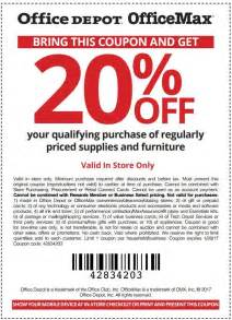 Office Depot Coupons Printing Office Depot Office Max Coupon 20 Qualifying
