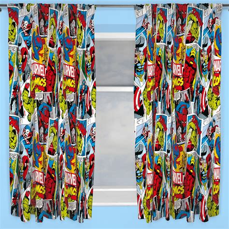marvel comic curtains marvel comics justice 66 quot x 72 quot curtains iron man hulk