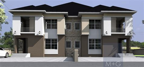 3 Story Duplex Floor Plans Contemporary Nigerian Residential Architecture 5 Bedroom