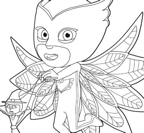 pajama connor is catboy from pj masks coloring