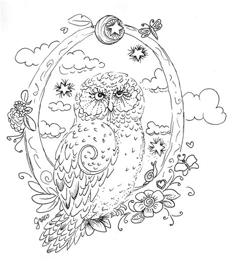 Owl Coloring Pages For Adults Bestofcoloring Com Coloring For Adults Free