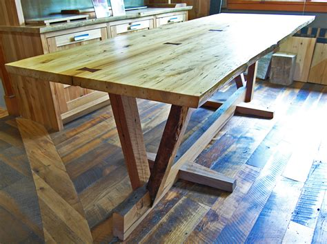 Diy Conference Table Reclaimed Wood Dining Table Timber Frame Study