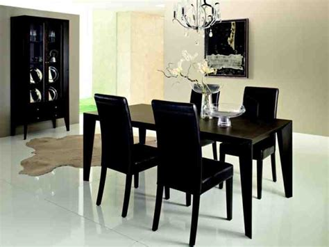 Black Dining Room Chairs Set Of 4 Decor Ideasdecor Ideas Black Dining Room Furniture Decorating Ideas