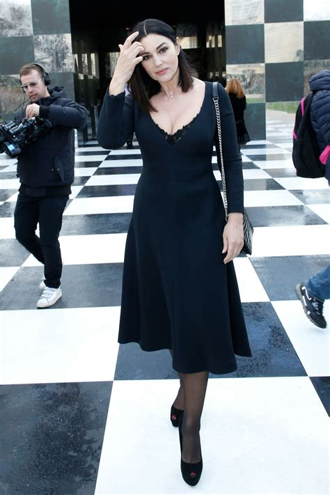 monica bellucci dior monica bellucci christian dior fashion show in paris 01