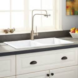 Drop In Sink Kitchen 40 Quot Nevan Fireclay Drop In Sink With Drainboard White Kitchen