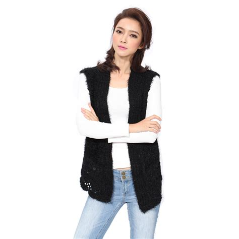 knitting pattern womens sweater vest knitted vest women s sleeveless vests casual style open