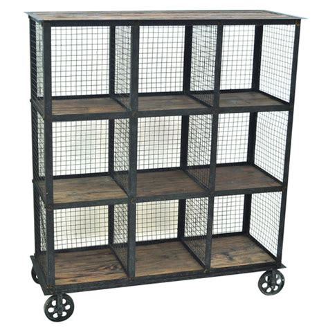 industria metal and wood 41 5 quot bookcase wayfair