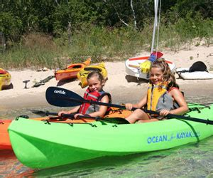 kayak surfing between two boats beach haven watersports jet ski and boat rentals kayaks