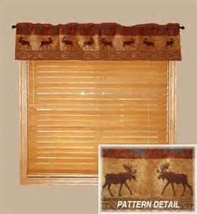 Moose Valances Auburn Moose Rustic Cabin Table Valance