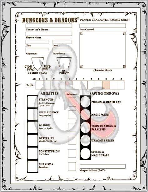 dungeons and dragons ability card template gaming resources