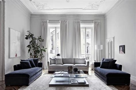 Deco Bleu Et Gris by Un Salon En Gris Et Blanc C Est Chic Voil 224 82 Photos Qui