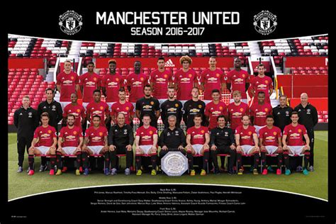 manchester united official 2017 1785492217 manchester united team squad 2016 2017 official poster maxi size 36 x 24 inch ebay