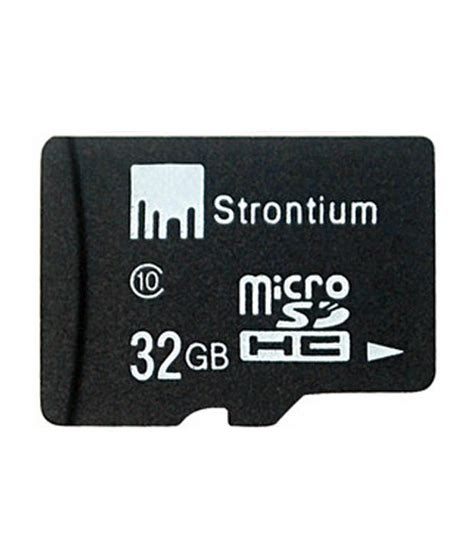 Strontium Microsd Card strontium 32 gb micro sd card class 10 memory cards at low prices snapdeal india