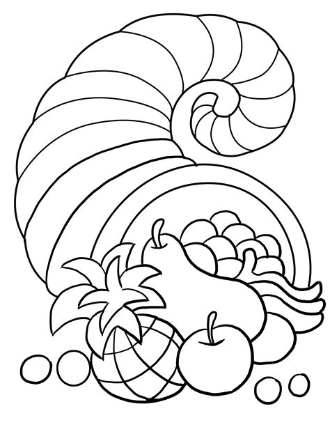 coloring page for thanksgiving free coloring pages of food worksheet or kids