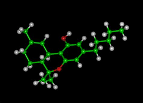 thc molecule tetrahydrocannabinol
