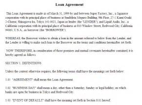 secured loan agreement template doc 537861 secured loan agreement template simple and